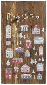 Bilde av Treskilt julelandsby og Merry Christmas